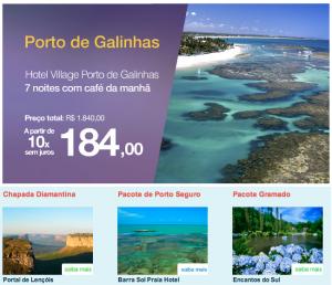 Azul Viagens com pacotes econômicos para o Brasil