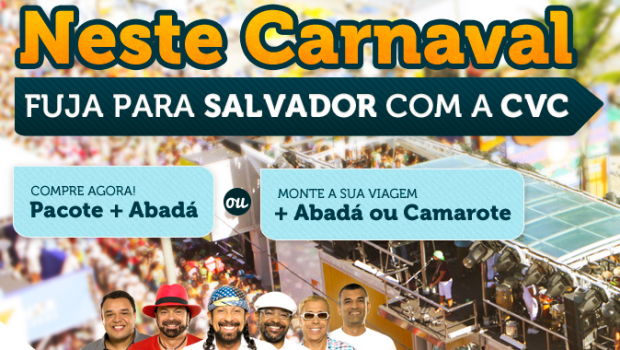 Carnaval em Salvador 2015 – Pacotes com Aéreo