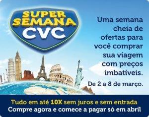 Pacotes de Viagens na CVC