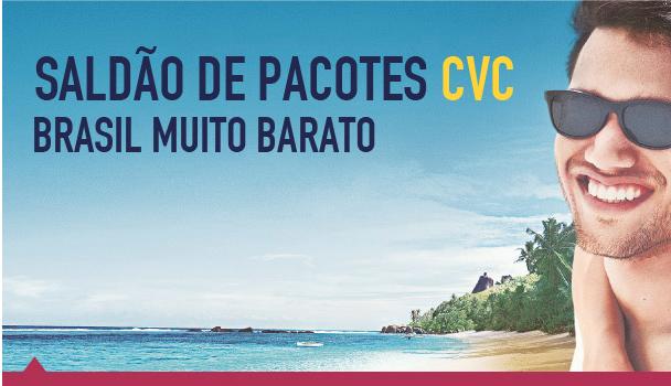 Saldão de Pacotes CVC: Brasil Muito Barato